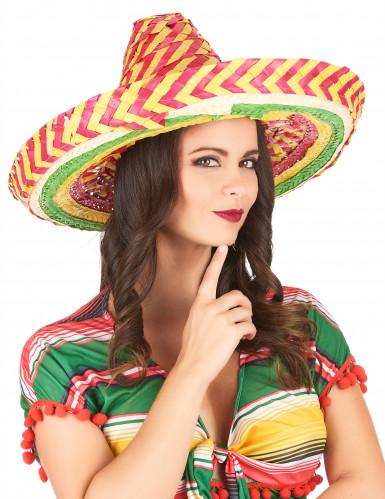 Mexicansk sombrero tutti frutti til voksne-2