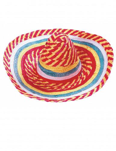 Mexicansk sombrero tutti frutti til voksne-1
