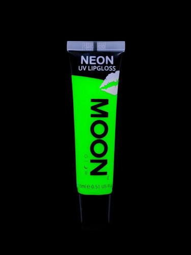 Lipgloss grøn selvlysende UV æbleduft 15 ml Moonglow-1