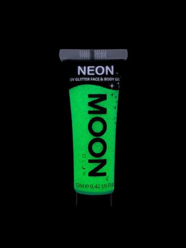 Gel ansigt og krop grøn pailette UV 12 ml Moonglow-1