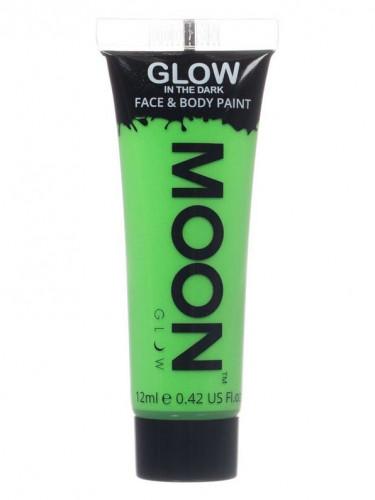 Gel ansigt og krop neon grøn selvlysende 12 ml Moonglow