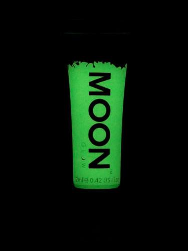 Gel ansigt og krop neon grøn selvlysende 12 ml Moonglow-1