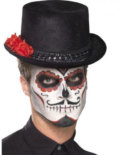 Tophat til voksne Dia de los Muertos-1