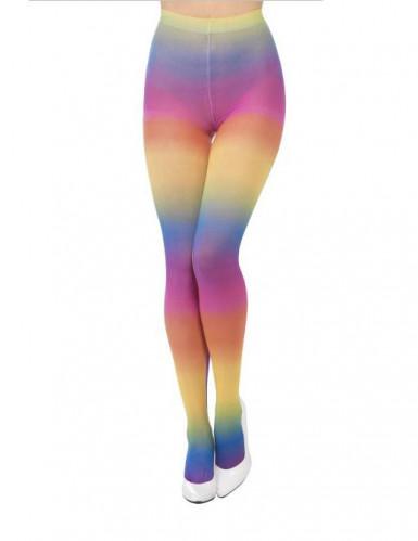 Strømpebukser uigennemsigtige regnbue til kvinder