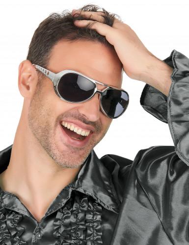Runde sølvfarvede briller-2