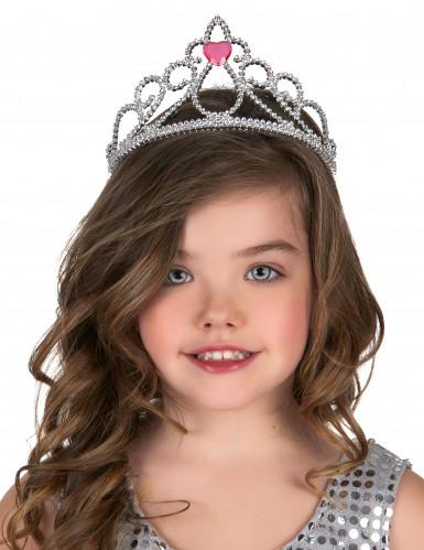 Prinsessediadem med hjerte til voksne og børn-1