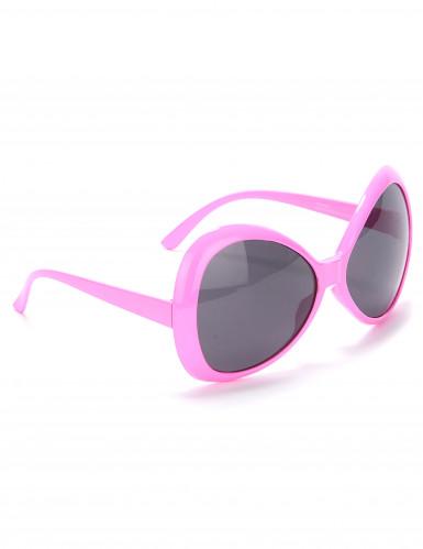 Lyserøde disko-briller til voksne