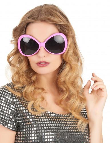 Lyserøde disko-briller til voksne-1