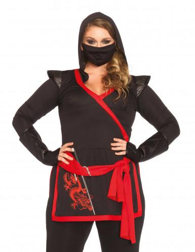 Ninja assassin kvinde kostume-1