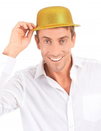 Hat i guld glimmer til voksne-2