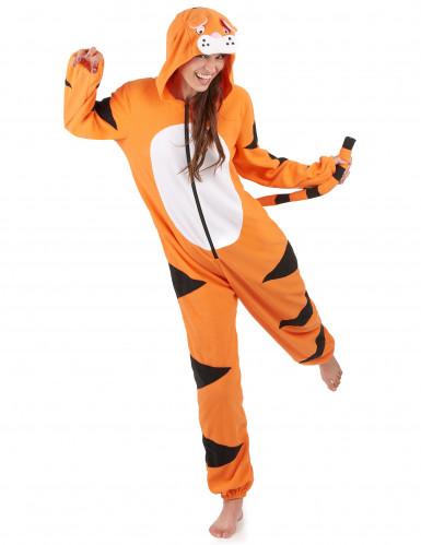 Heldragt med hætte tiger til kvinder