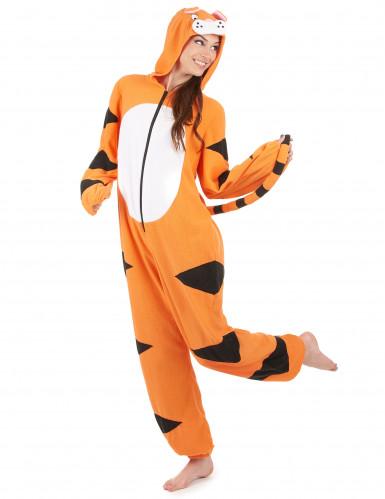 Heldragt med hætte tiger til kvinder-1