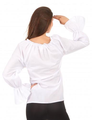 Langærmet hvid skjorte dame-1
