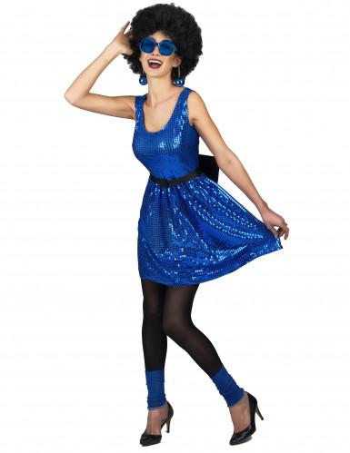 Discokjole blå med stor sløjfe kvinde