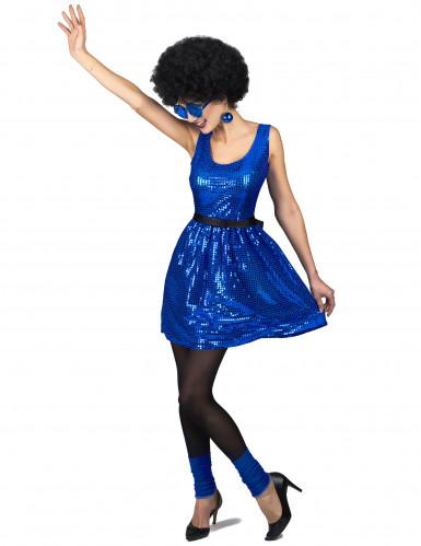 Discokjole blå med stor sløjfe kvinde-1