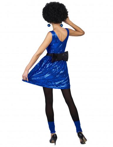 Discokjole blå med stor sløjfe kvinde-2