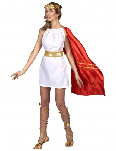 Kostume romersk kvinde rød og guld-1