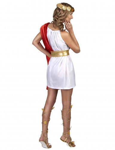 Kostume romersk kvinde rød og guld-2