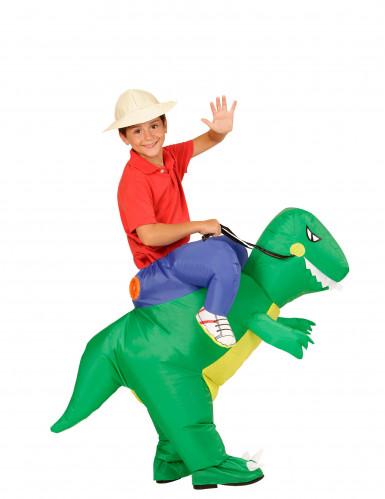 Kostume udforsker på ryggen af dinosaur til børn-1