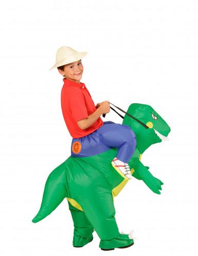 Kostume udforsker på ryggen af dinosaur til børn-2