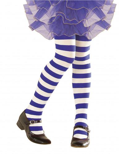 Strømpebukser blå- og hvidstribede til børn