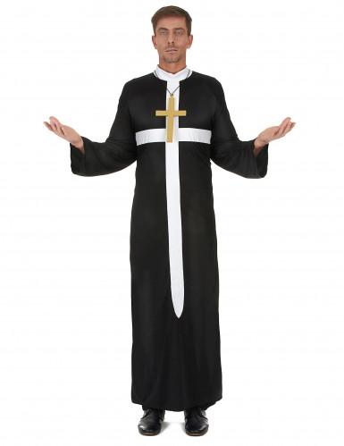 Præstekostume med hvidt kors herre
