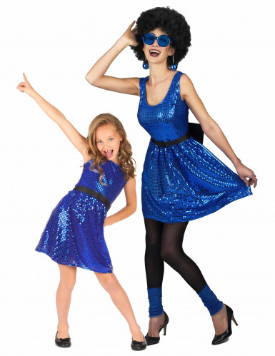 Parkostume disco blå mor og datter