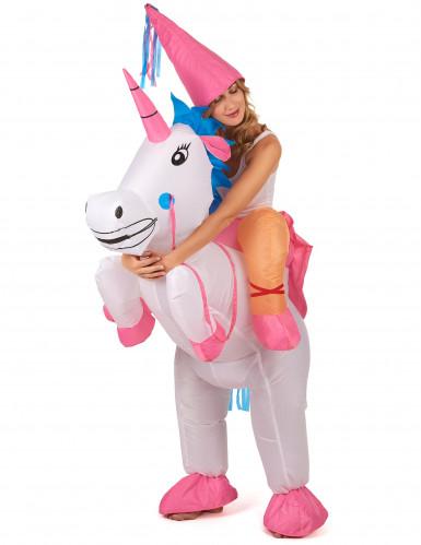 Kostume enhjørning oppustelig til voksne-1