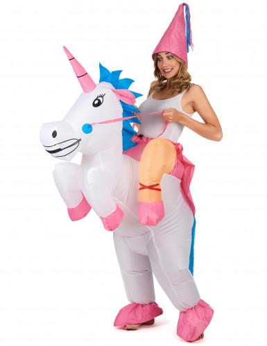 Kostume enhjørning oppustelig til voksne-2