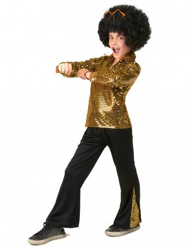 Kostume disco guld pailletter til drenge-1
