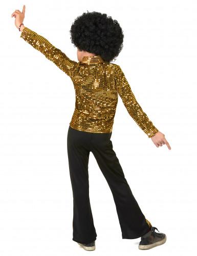 Kostume disco guld pailletter til drenge-2