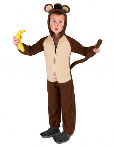 Mørkebrunt abekostume til børn -1