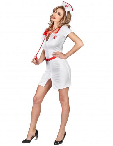 Miss Nurse - Sexet sygeplejerskekostume til kvinder-1