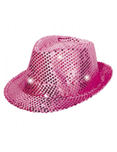 Borsalinohat lyserødglimmer - med LED