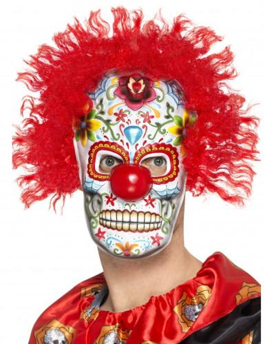 Dia de los Muertos Klovn Maske til Voksne