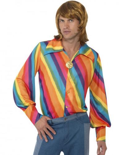 Skjorte regnbue til mænd