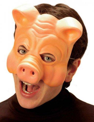 Halvmaske gris til voksne