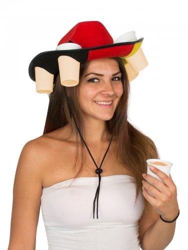 Hat med krus i tyske farver