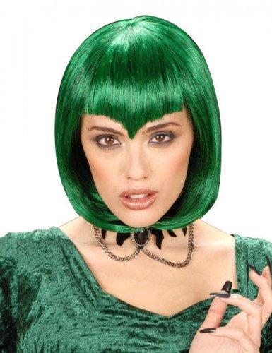 Paryk kort grøn vampyr