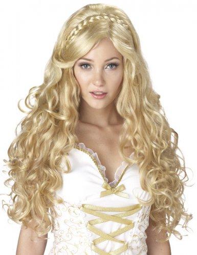 Paryk krøllet gudinde blond til kvinder