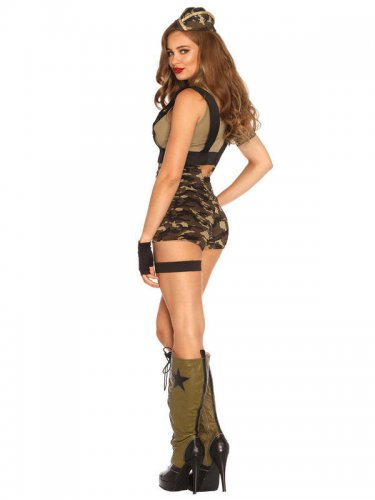 Kostume militær booty camp til kvinder-1