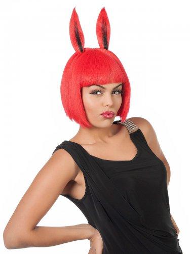 Paryk med kanin ører