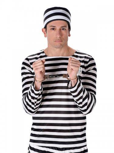 Kostume fange stribet sort/hvid til mænd-1