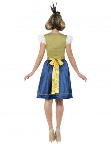Kostume dirndl kjole grøn-brun-blå-2