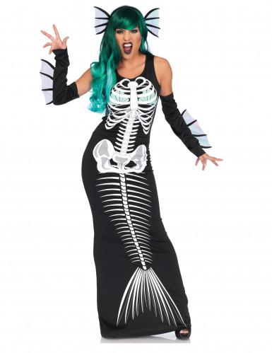 Kostume skelet havfrue til kvinder Halloween