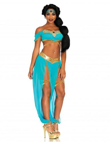 Sexet drømmende prinsse kostume blå kvinde