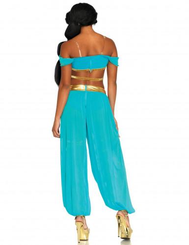 Sexet drømmende prinsse kostume blå kvinde-1