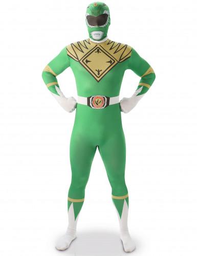 Kostume Second Skin Power Rangers™ Grøn til mænd