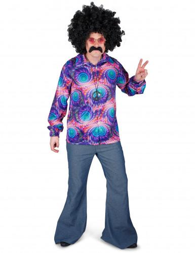 Skjorte psykedelisk hippie til mænd