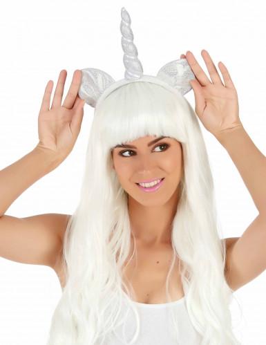 Hårbånd sølv unicorn-1